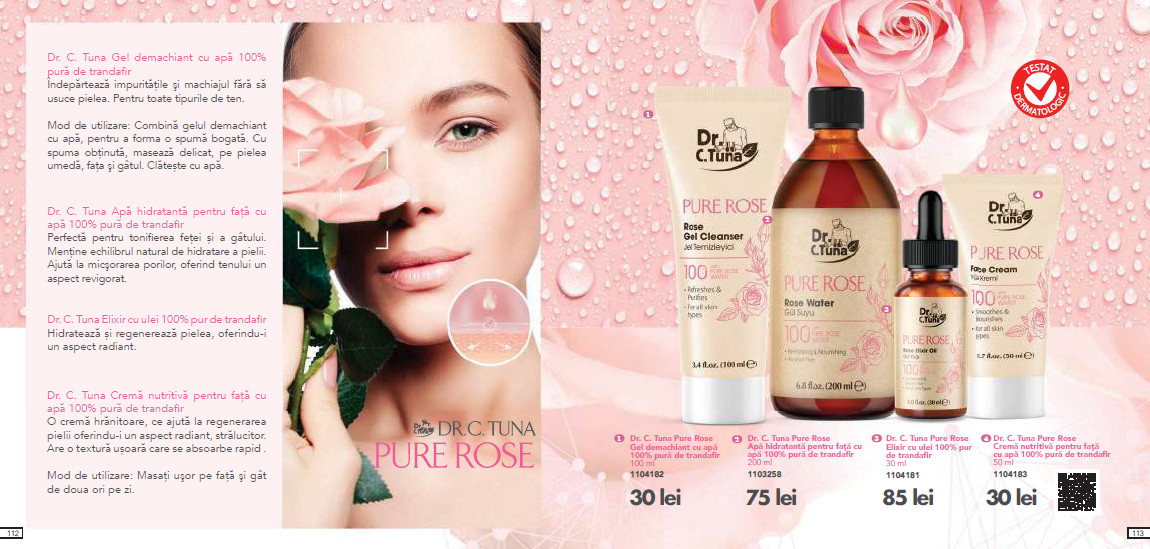 DR. C. TUNA PURE ROSE APA DE FATA 200 ML